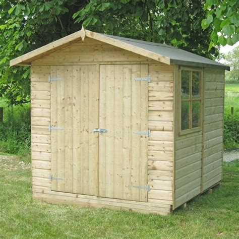 shed 7x7 shire alderney pressure treated shed 7x7 one garden