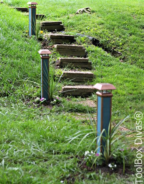 Solar Lights For Walkway by How To Make Solar Walkway Lights Toolbox Divas