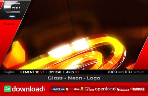 videohive after effects templates glass neon logo after effects project videohive free template free after effects template