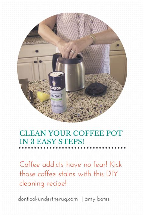 Properly clean the glass coffee pot part of your coffee maker using environmentally friendly household ingredients. Coffee Pot Cleaning - WITHOUT VINEGAR!   Coffee pot ...
