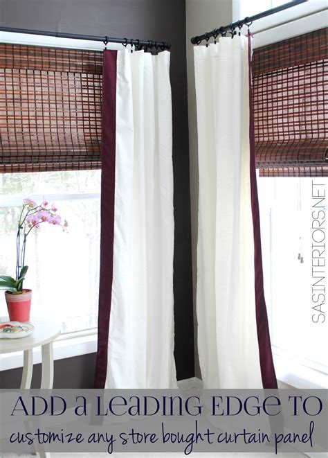 a simple idea for customizing store bought curtain panels