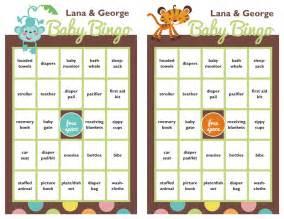 Baby Shower Blank Bingo Card Template