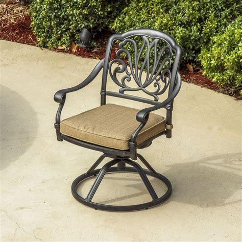 rosedown cast aluminum swivel rocker patio dining chair