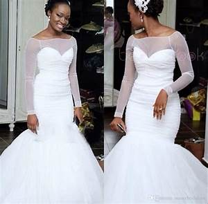Simple White Long Sleeves Wedding Dresses South Africa Off
