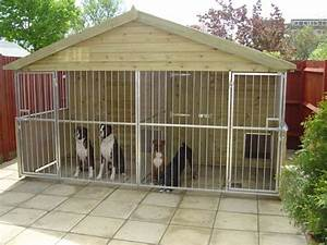 Large pet cages here are some large outdoor dog ken for Dog run outdoor kennel house