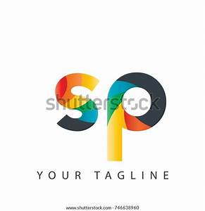 Initial, Letter, Sp, Rounded, Design, Logo, Stock, Vector