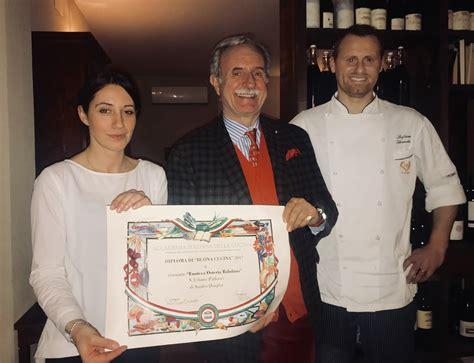diploma di cucina diploma di buona cucina all osteria balobino di sant