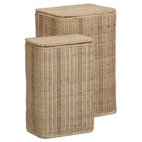 coussins de chaises de jardin paniers à linge rectangulaires en rotin naturel