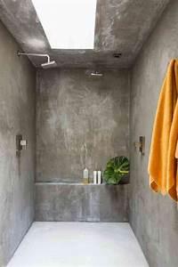 Beton Ciré Sol Salle De Bain : le b ton cir dans la salle de bain tout ce qu il faut ~ Preciouscoupons.com Idées de Décoration