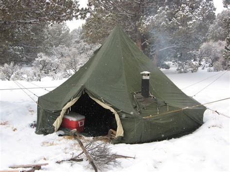 army tent   wood stove hook