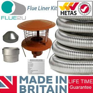 flue liner kit multifuel flexible  installation wood