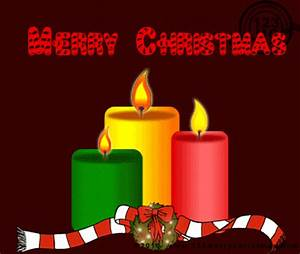 Merry Christmas Candles Animated