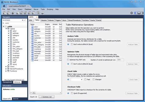 mysql mysql workbench manual  schema  table