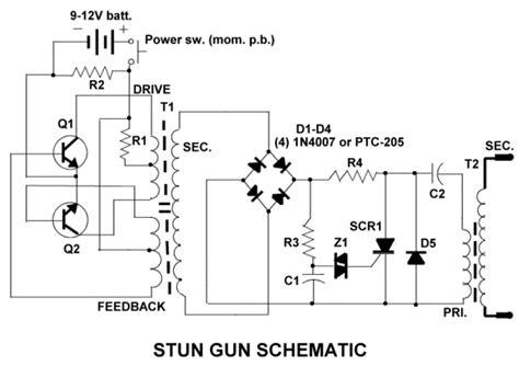 free taser stun gun schematics and plans