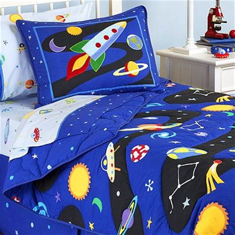 rocket ship outer space boys bedding sheet sets
