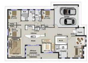 Pictures House Plans Bedrooms by 4 Bedroom House Plans Or By Australian Floor Plans 4