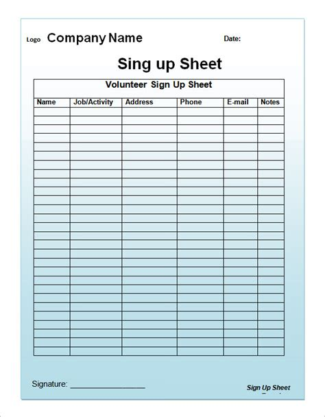 printable christmas sign up sheet 23 sle sign up sheet templates pdf word pages excel