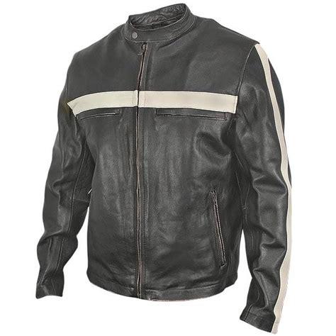 retro motorcycle jacket leather vintage motorcycle jacket stripers