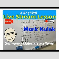Mark Kulek Live Stream  What's It Made Of? (materials)  #57  English For Communication Esl