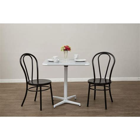 ospdesigns odessa solid black metal dining chair set