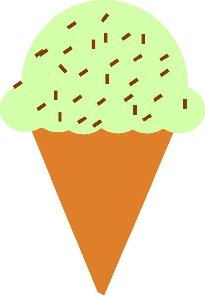 ice cream cone  sprinkles clip art  clkercom