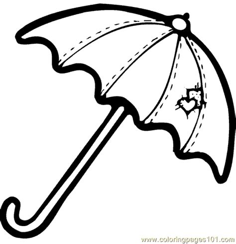 umbrella coloring page coloring pages pinterest