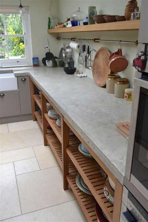 kitchen cabinet concrete table top 20 ไอเด ย แบบคร วป นเปล อยขนาดเล ก เอาใจคนชอบบ านสไตล 7755