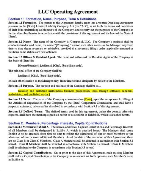 operating agreement template partnership agreement 11 free word pdf documents free premium templates