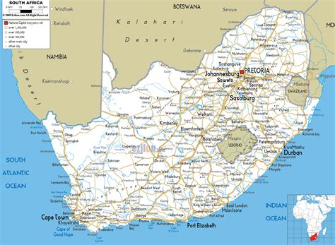 road map  south africa  south african road maps