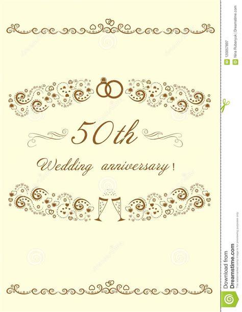 50th Wedding Anniversary Invitation Beautiful Editable