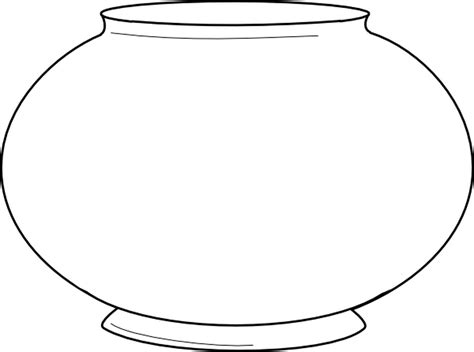 print  amazing coloring page blank fishbowl clip art vector  royalty