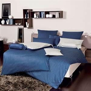 Mako Satin Bettwäsche 155x200 : janine mako satin bettw sche modern classic dunkelblau ~ Lateststills.com Haus und Dekorationen