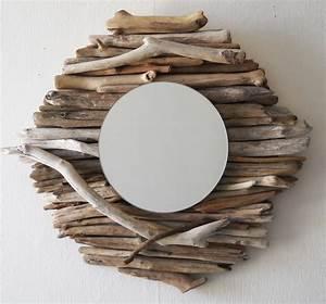 Miroir Bois Flotté : un miroir rond au fil de l 39 eau bois flott ~ Teatrodelosmanantiales.com Idées de Décoration