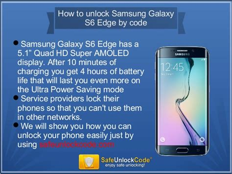 How To Unlock Samsung Galaxy S6 Edge By Code