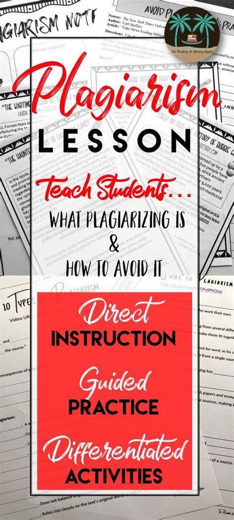 avoiding plagiarism unit engaging plagiarism lessons