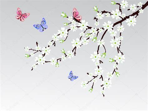 foto de Flor de cerejeira Vetor de Stock © andreakaulitzki #9289807