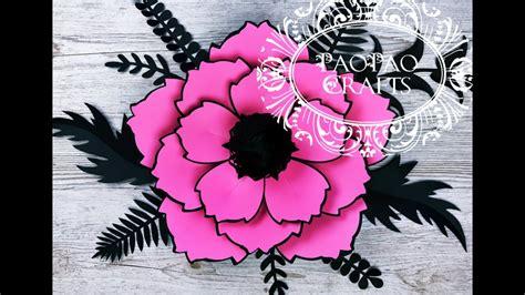 Flor gigante de papel Moldes GRATIS Flores de papel