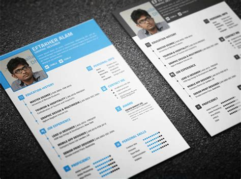Awesome Psd Resume Templates by 10 Awesome Free Resume Templates Design Crawl