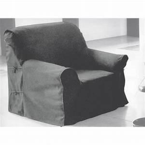 Housse De Canapé Gris : housse de fauteuil en coton panama gris clair achat ~ Teatrodelosmanantiales.com Idées de Décoration