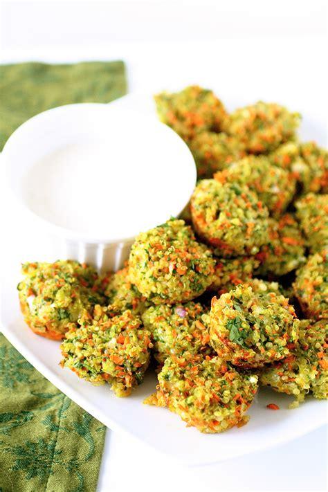 cheese  vegetable quinoa bites  curvy carrot