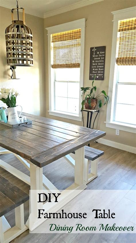 ana white rekourt dining room table  benches diy