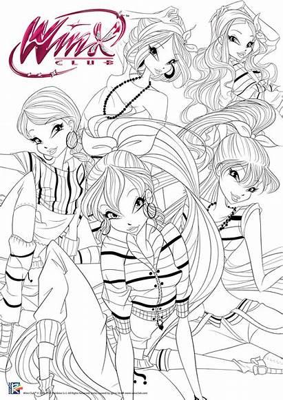 Winx Coloring Hop Hip Colorear Dibujos Flora