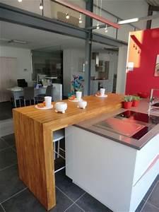 Plan De Travail Ilot : ilots central pour cuisine plan snack bois massif sur ~ Premium-room.com Idées de Décoration