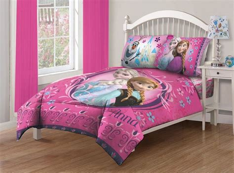 4 Pieces Disney Frozen Anna +elsa Pink Bedding Comforter And Sheet Set Full Size Boogie Baby Elephant Blanket Wicker Basket Box Children S Sleepers Afghan Throw Size Argos Picnic Waterproof Backing Best Yarn For A Crochet Colour Schemes Edge Patterns Flannel Blankets