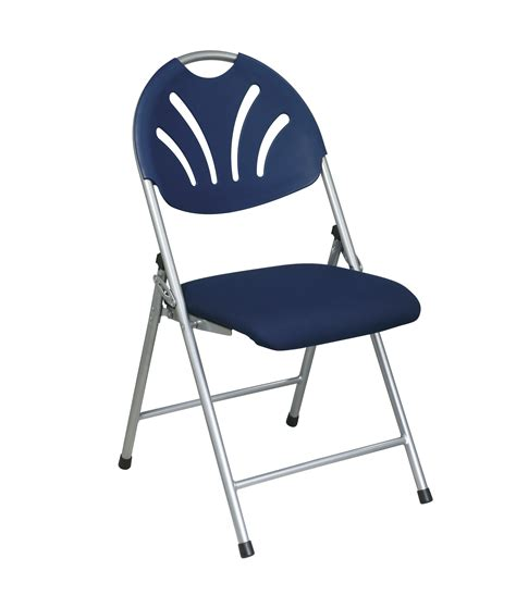 Office Folding Chairs by Office Folding Chair With Fabric Seat By Oj Commerce