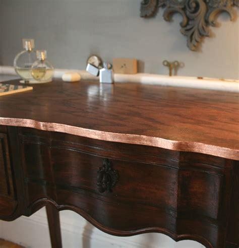 before & after: copper trimmed vanity table ? Design*Sponge