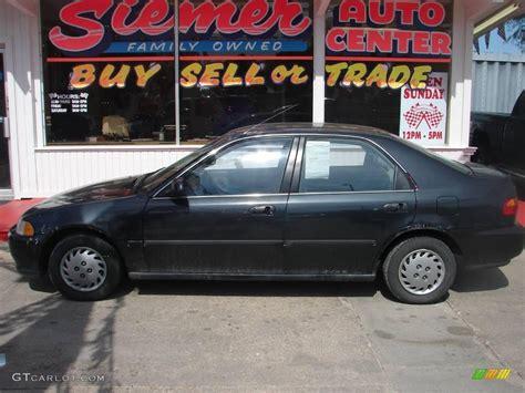 1992 Flint Black Metallic Honda Civic Lx Sedan 12133926