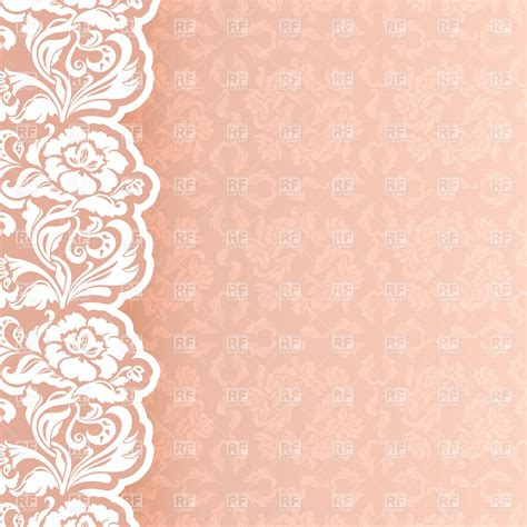 Invitation Backgrounds Background With Delicate Lace Newborn Or Wedding