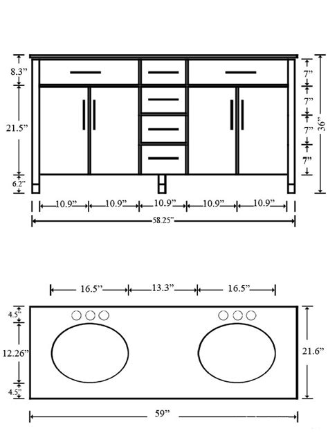 Height Bathroom Cabinet by Bathroom The Most Bathroom Vanity Sizes Chart