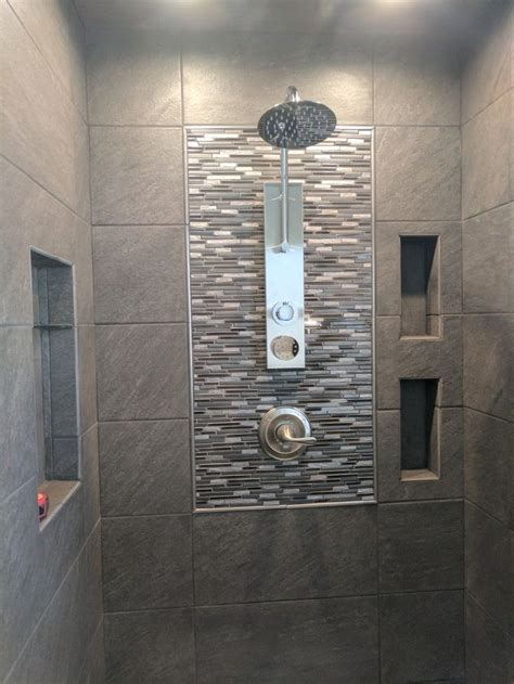 galvano charcoal tile great  dark bathroom style